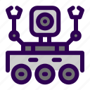 arm, rover, space icon