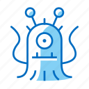 alien, fiction, monster, science, space icon