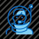 astronaut, cosmonaut, helmet, space, spaceman icon