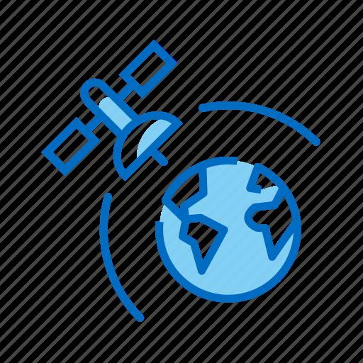 earth, orbit, orbital, satellite, space icon