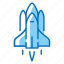 launch, rocket, shuttle, space, spacecraft, spaceship icon