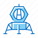 lunar, module, space, station icon