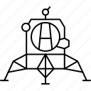 module, station, lunar, space icon