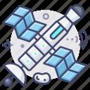 astronaut, satellite, space icon