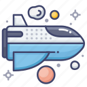 shuttle, space, spaceship icon