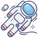astronaut, space, suit icon
