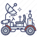 moon, rover, roving, vehicle icon