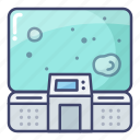 astronaut, control, room, space icon