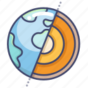 astronomy, core, earth, structure icon