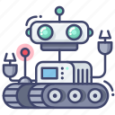 artificial, machine, robot, robotic icon