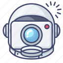 astronaut, camera, space icon