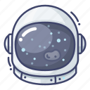 astronaut, helmet, space icon