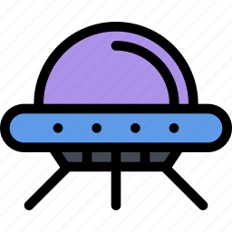 astronaut, flying, future, planet, saucer, science, space icon