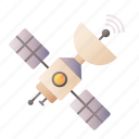 satellite, station, space, communications