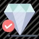 chalk, diamond, jewel, think