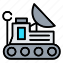 mars rover, planet, robot, space, technology icon