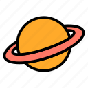 astronomy, planet, saturn, space, universe icon