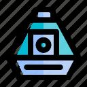 capsule, exploration, rocket, space, space capsule, spacecraft, spaceship icon