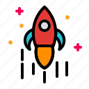 games, launcher, rocket, scientist, space icon