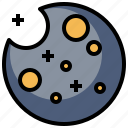astronomy, earth, galaxy, moon, orbit, planet, satellite icon