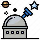 astronomy, earth, observatory, orbit, planet, satellite, space icon