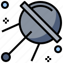 astronomy, earth, galaxy, orbit, planet, satellite, universe icon