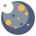astronomy, earth, galaxy, moon, planet, satellite, universe icon