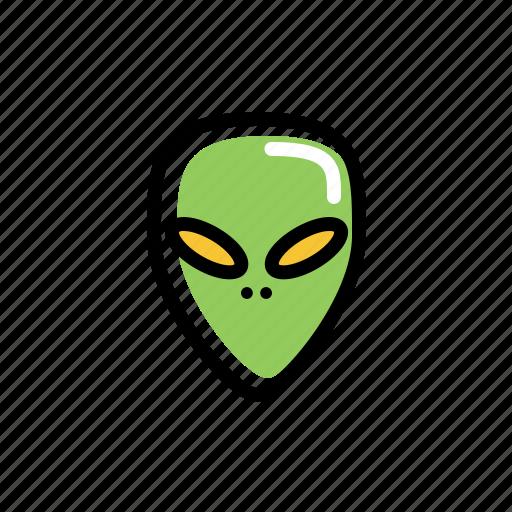 alien, alien002, other, space, unidentify, unknown icon