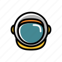 astronaut, cosmonaut, helmet, outer space icon