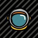astronaut, cosmonaut, helmet, outer space