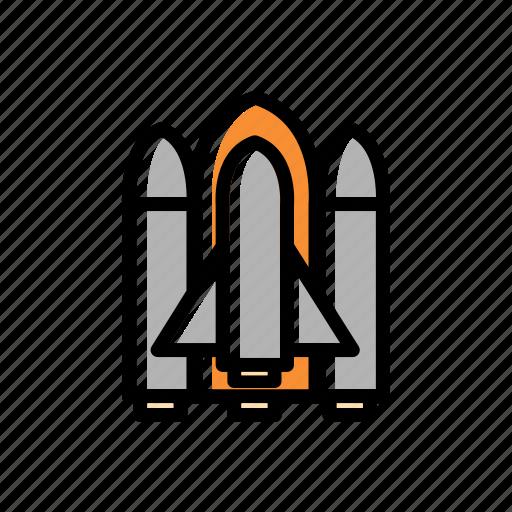 rocket, space, spacecraft, spaceship, vehicle icon