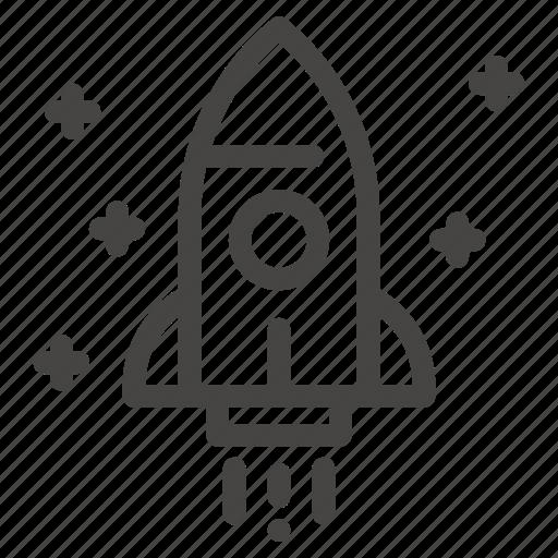 astronomy, galaxy, rocket, space, transportation icon