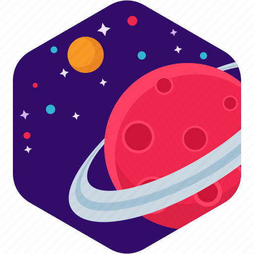 Planet, saturn, star, astronomy icon