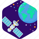 antenna, dish, earth, satellite, signal, star icon