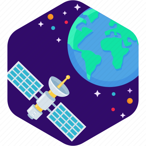 antenna, dish, earth, satellite, signal, star icon
