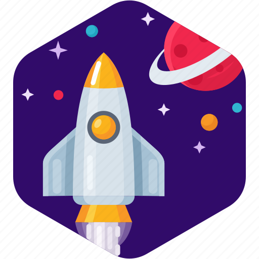 Launch, planet, rocket, shuttle, space, star icon - Download on Iconfinder