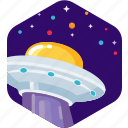 alien, ship, space, spaceship, stars, ufo icon