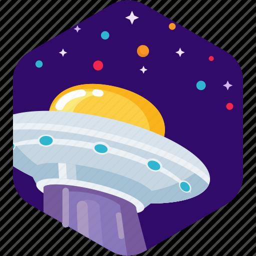 alien, ship, space, spaceship, stars, ufo icon