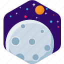 moon, night, planet, space, star icon