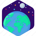 earth, planet, space, world icon icon