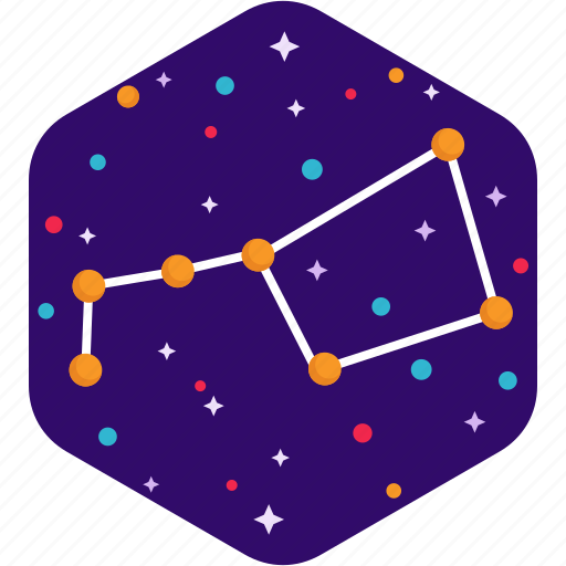 astrology, big dipper, constellations, space, stars, ursa major icon