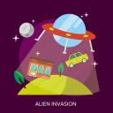 alien, alien invasion, invasion, space, universe icon