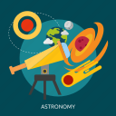 astrology, astronomy, science, space icon
