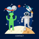 communication, contact, mobile, people, space, universe