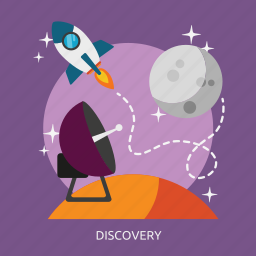 discovery, light, science, search, space, technology, universe icon