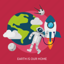 earth, home, our home, space, universe icon