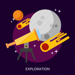 exploration, explore, science, space, technology, universe icon