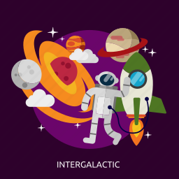 fantasy, intergalactic, science, space, spaceship, technology, universe icon