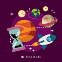 astronaut, astronomy, cosmonaut, galaxy, interstellar, space, universe icon
