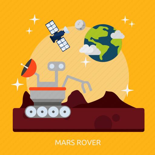 mars, mars rover, rover, space, universe icon